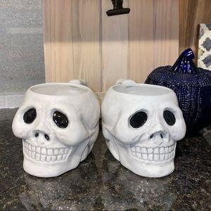 Halloween fall decor skull mugs drink ware holiday
